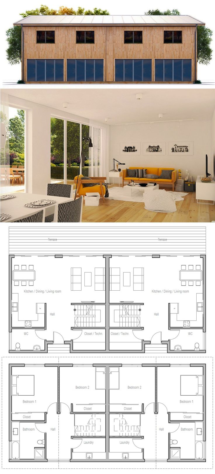 Maison duplex plan ventana blog for Plan maison duplex