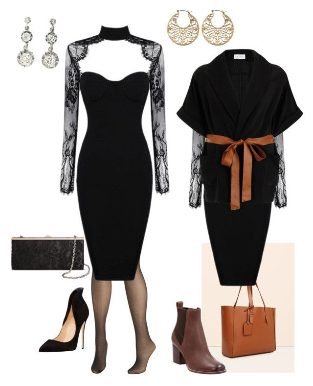 """""""Untitled #95"""" by susan-v on Polyvore featuring Avenue, Violeta by Mango, Elvi, Clarks and Tevolio"""