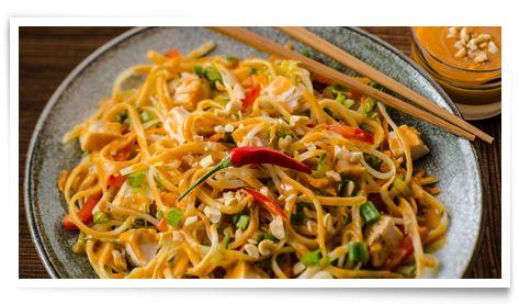 Sauce DianaMD et Marinade :: Recettes :: Nouilles orientales aux arachides