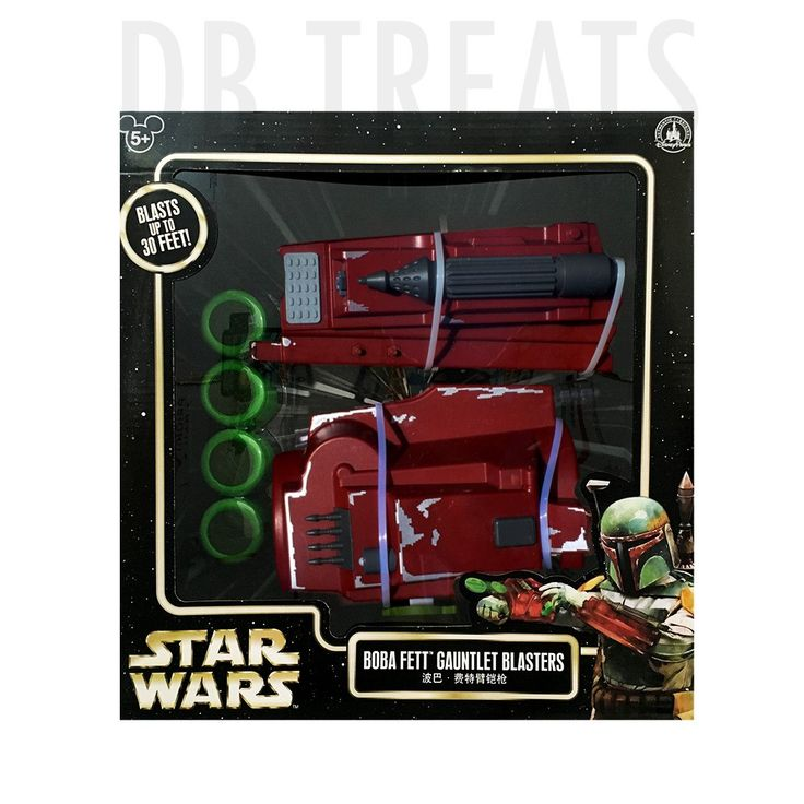 Disney Parks Star Wars Boba Fett Gauntlet Blasters Bring hours of fun and adventure into your kids imagination with his very own Disney Parks Star Wars Boba Fett Gauntlet Blasters. Includes 20 Launchi