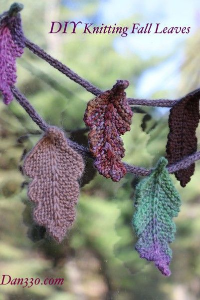 DIY Room Decor for Fall - Knit a Pile of Leaves - Dan 330 http://livedan330.com/2015/10/13/diy-room-decor-for-fall-knit-a-pile-of-leaves/