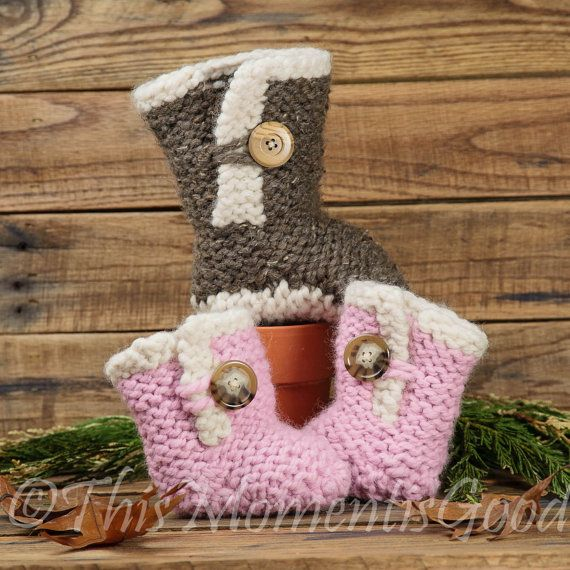 Knitting Patterns For Toddlers Boots : 1000+ ideas about Knit Baby Shoes on Pinterest Knitting patterns baby, Baby...