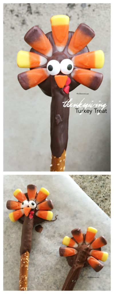 Thanksgiving   Make this fun Thanksgiving Turkey treat from The Idea Room