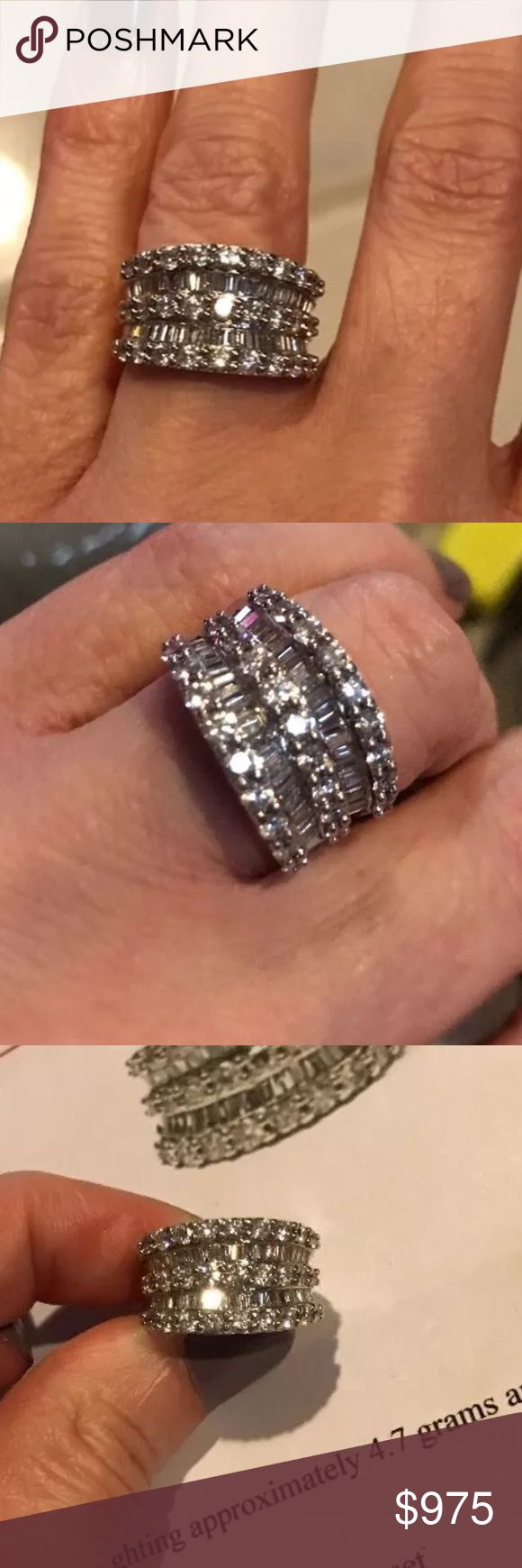 *SOLD* 2.20 carat 14k white gold diamond ring Amazing 2.20 carat 14k white gold diamond ring! High quality diamonds! Retail around $8000! Comes with appraisal! Super great deal! Jewelry Rings