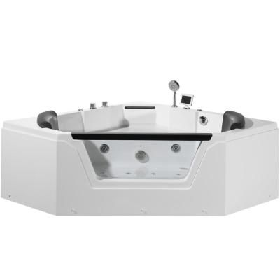 Ariel 60 In Center Drain Corner Alcove Whirlpool Bathtub In White