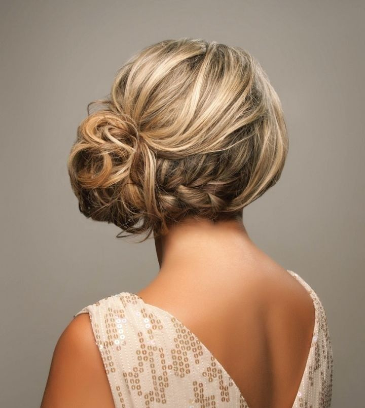 Side Braided Updo Hairstyles - Wedding Updos 2015