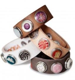 Noosa armbanden, met verwisselbare chunks