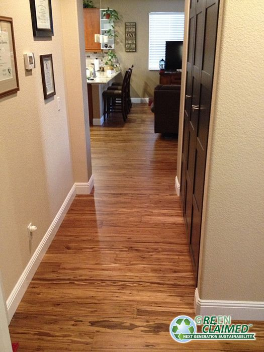 Mocha eucalyptus flooring has the beautiful look and wood grain associated with walnut or dark red oak but feature twice the hardness, solid click lock construction for easy DIY installation and all the eco benefits of a rapidly renewable material. - Cali Bamboo