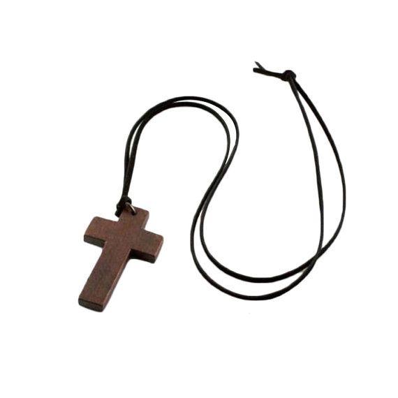 Croix en bois Collier croix-Noël cadeau-bois Croix-rustique Croix-rustique bois Croix-Croix collier-Unisex collier-Mens Collier croix de bois