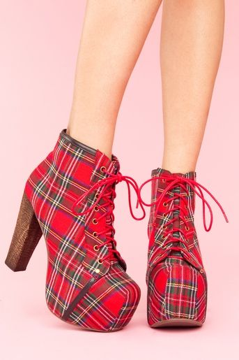 Jeffrey Campbell Lita I love plaid because I was forced to go