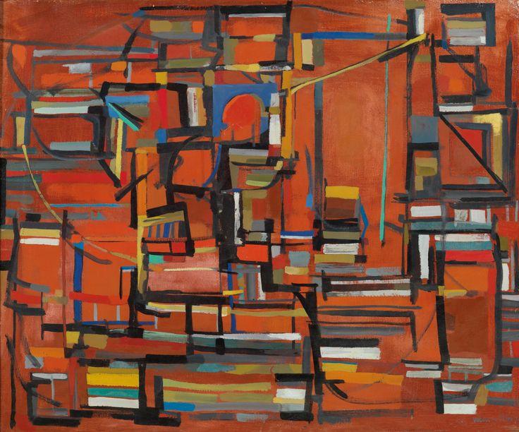 Maria Helena Vieira da Silva (Portugal 1908-1992 France) Le four (1952) oil on canvas, 61 x 74 cm