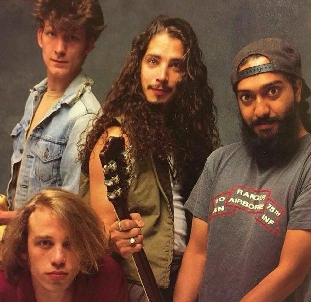 •Circa 1991• ©Glen La Ferman #mattcameron #benshepherd #kimthayil #chriscornell #soundgarden #glenlaferman #badmotorfinger