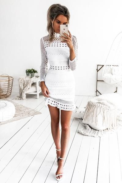 Riverdale Lace Dress - White