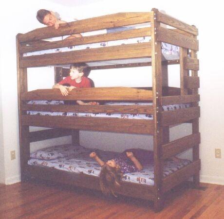 Attractive Triple Bunk Bed Plans. Stapelbed PlannenKinderen ... Good Looking
