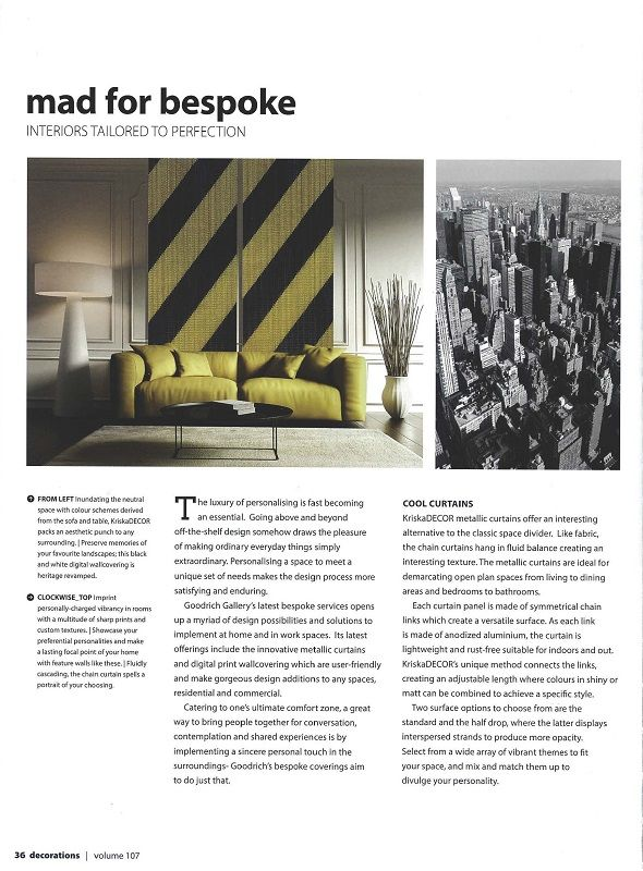 An introduction to KriskaDECOR's innovative metallic curtains. Read more at: http://www.houzz.com/photos/43603891/DCRS-decorations-Volume-107-home-decor-other-metro