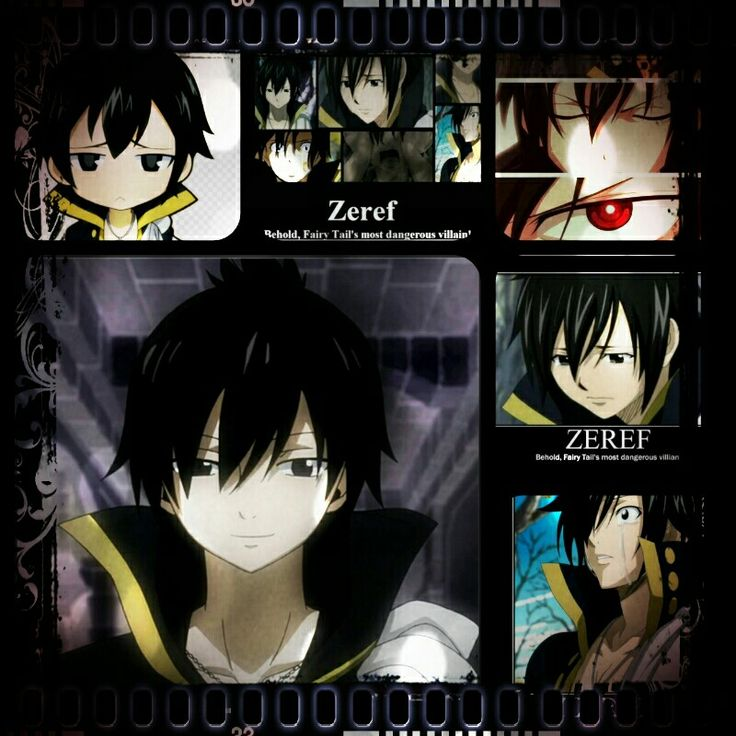 Zeref Edit By Me Zeref Zeref Dragneel Fairy Tail Family