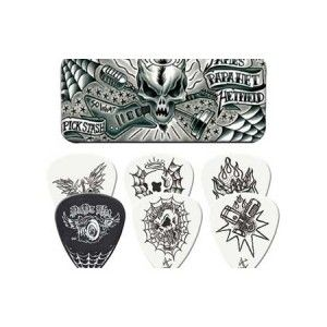 James Hetfield So What Guitar Picks Tin - Sound like a Metallica guitarist when you use these James Hetfield picks. Includes 6 dunlop picks and a tin with artwork representing their hit song So What.
