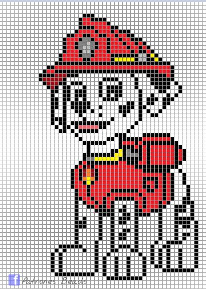 34 best images about paw Patrol on Pinterest Perler beads, Patrones and Paw...