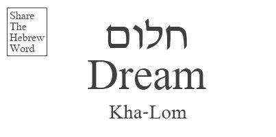 Dream in Hebrew - Khalom