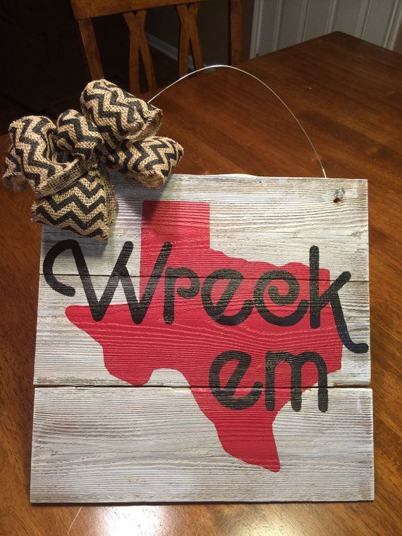Team Picket Sign Texas Tech Red Raider sign by SarahDanielDesigns