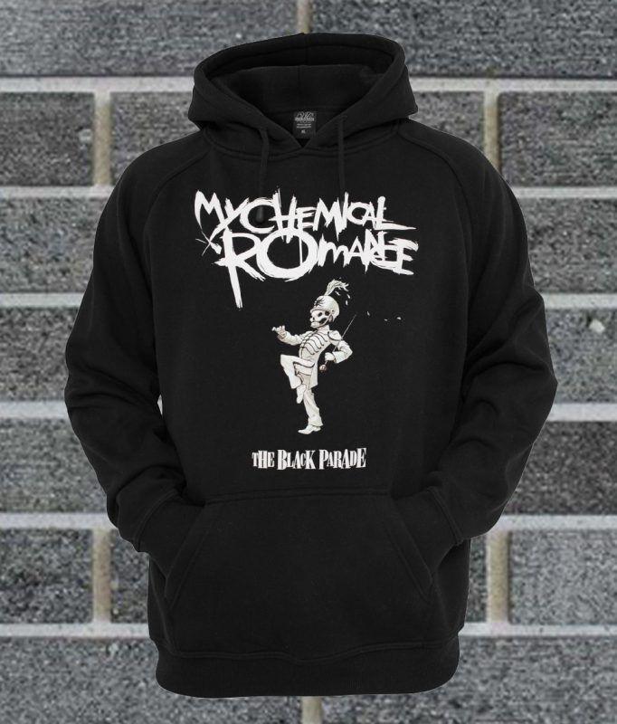 Cool-custom My Chemical Romance Mens Long Sleeve Sweatshirts Mens Hoodies Black