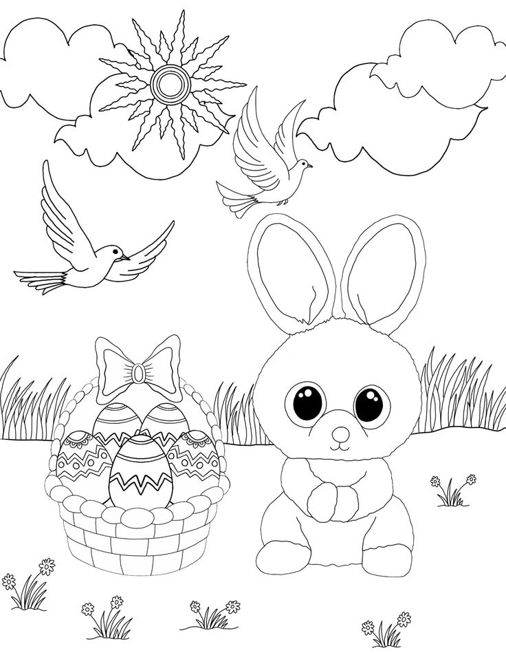 Baby Bunny Coloring Pages Rabbit Colouring Bugs Printable
