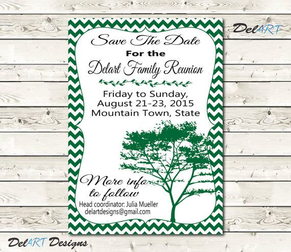22 best Family Reunions - Save the Date images on Pinterest - family gathering invitation wording