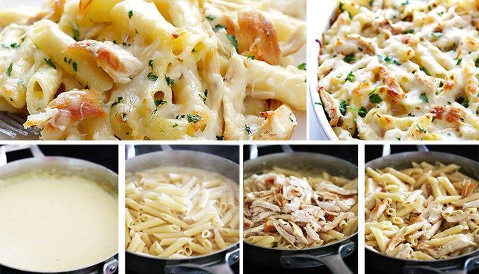 Cenově dostupné, chutné a hlavně nenáročné na přípravu. Těstoviny s kuřecím masem, sýrem, ...