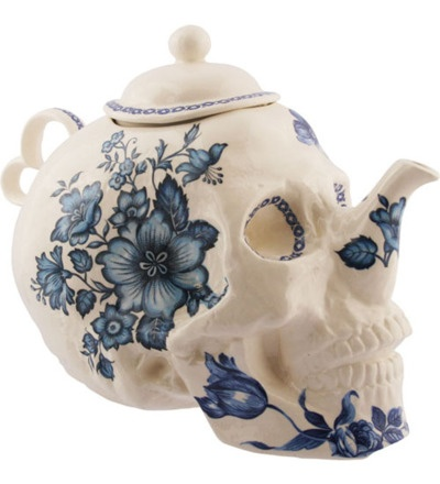 Skell and Flower Tea Pot