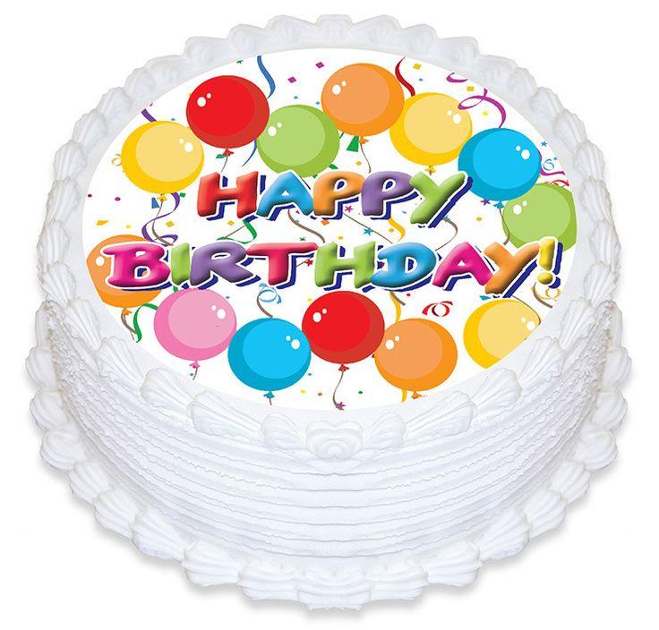 Happy Birthday Balloons Edible Cake Image