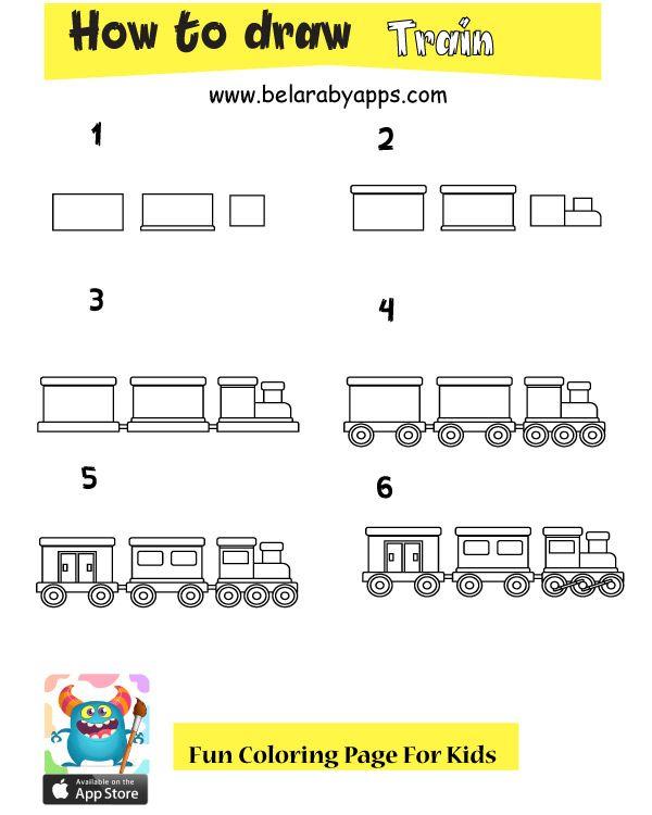 تعلم رسم وسائل النقل والمواصلات ـ تعليم الرسم للاطفال بالعربي نتعلم Drawing For Kids Coloring Pages For Kids Cool Coloring Pages