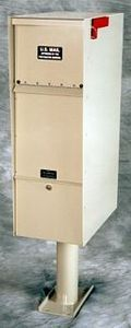 secure in wall locking mailboxes free standing lockable mailbox - Locking Mailboxes