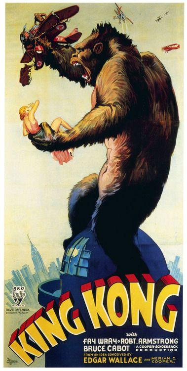 King Kong (1933). Poster.  from/de: IMP Awards (lot of movie posters! / ¡Cantidad de carteles de cine!
