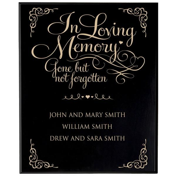 Personalized Wedding Memorial Wall Plaque - In Loving Memory Gone But Not Forgotten