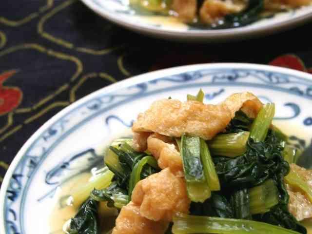 しみじみおいしい❤小松菜と油揚げの煮浸しの画像
