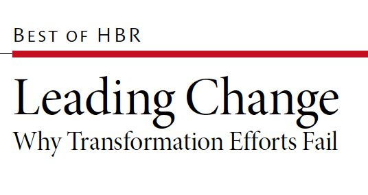leading change why transformation efforts fail In 1995, his book leading change became an international bestseller  kotter,j , 1996, leading change – why transformation efforts fail,.