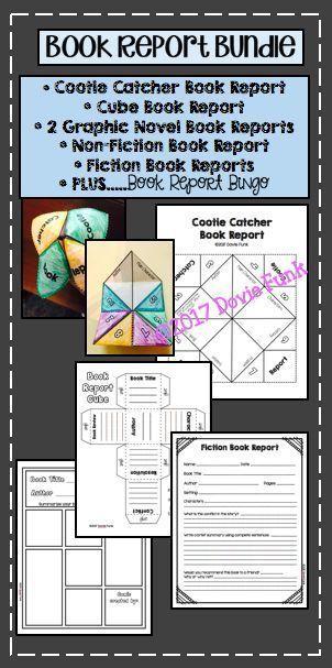 Book Report Templates PLUS Book Report Bingo