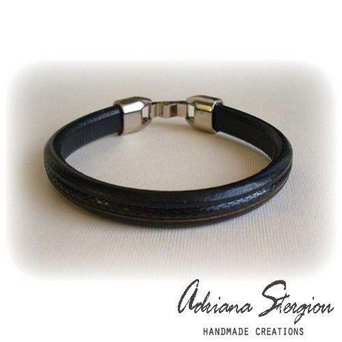 men's leather bracelet  www.jewelmyday.eu #jewelry, #men, #bracelet