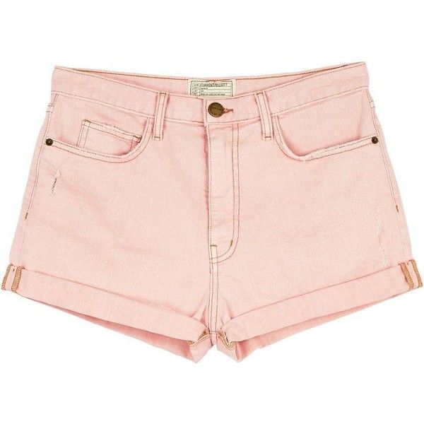 Current/Elliott The Short Westcoast Charmer ($81) ❤ liked on Polyvore featuring shorts, bottoms, short, blushback, current elliott shorts, summer denim shorts, denim shorts, summer shorts and boyfriend shorts