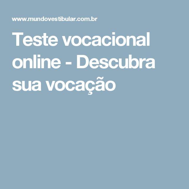 Teste vocacional online - Descubra sua vocação