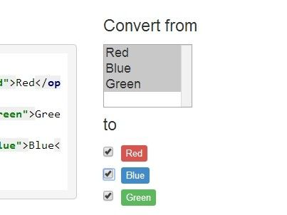 multicheck is a lightweight jQuery plugin to convert select options into a multi checkbox set, allowing your user to select multiple options in an easy way.