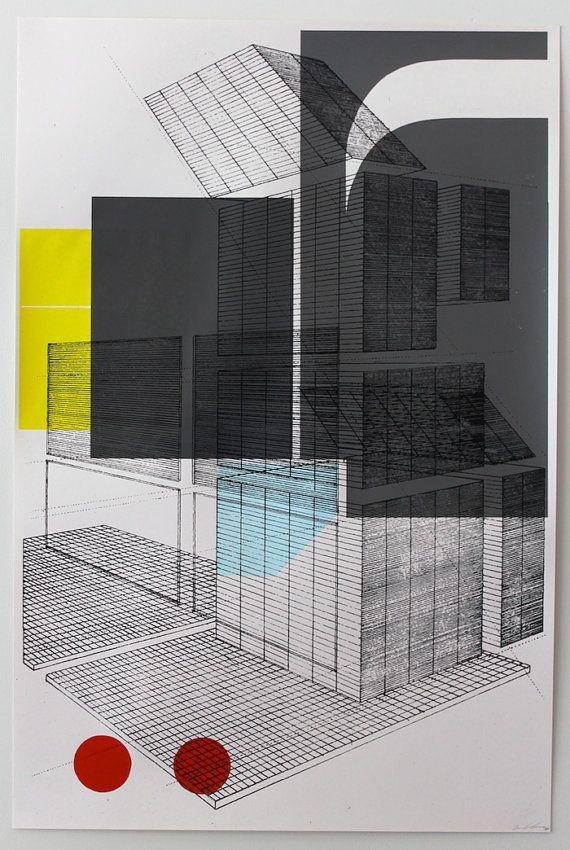 Architectural Graphics 24x36 $60