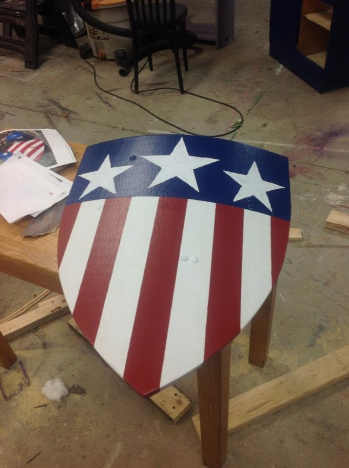 Your very own WW2 Captain America shield. A blog post and more pictures at the link.  http://mywaytonormal.blogspot.com/2013/04/curved-shields-and-captain-america.html