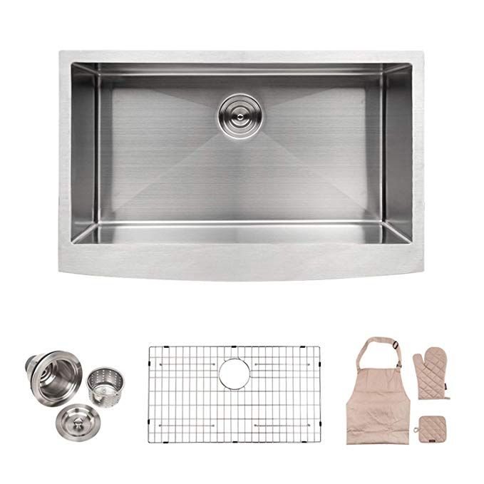 Lordear La3021r1 Bar Sink 30 Inch Farmhouse Apron Single Bowl Stainless Stainless Steel Farmhouse Kitchen Sinks Apron Front Kitchen Sink Farmhouse Sink Kitchen