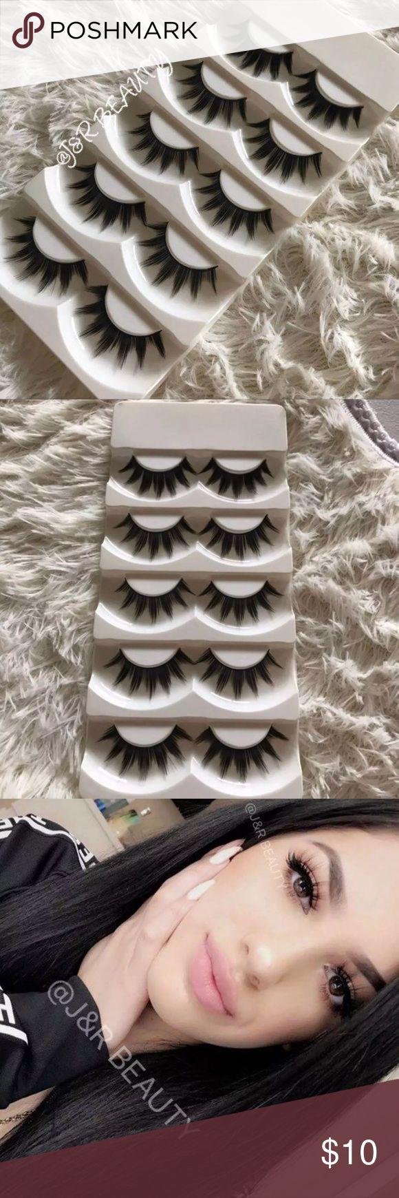 Eyelashes 5 Pairs +$2 eyelash Applicator  +$3 eyelash glue  # tags  Iconic, mink, red cherry eyelashes, house of lashes, doll, kawaii, case, full, natural,  Koko, Ardell, wispies, Demi , makeup, Iconic, mink, red cherry eyelashes, house of lashes, doll, kawaii, case, full, natural,  Koko, Ardell, wispies, Demi , makeup, mascara, eyelash applicator, Mykonos Mink , Lashes , wispy ,eyelash case, mink lashes  Ship within 24 hours ❣️ Makeup False Eyelashes