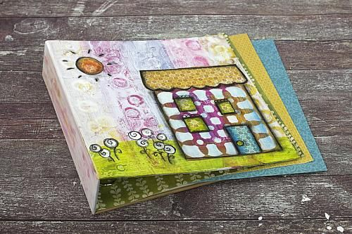 Colorful Mixed Media House Binder -- Make a colorful mixed media binder.  #decoartprojects