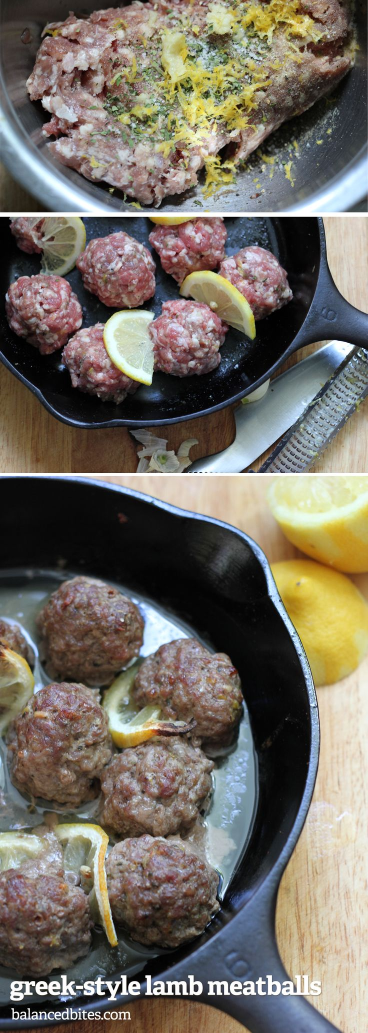 Greek-Style Lamb Meatballs | Balanced Bites      Easy and delicious meatballs the whole family will love!  #balancedbites #meatballs #lamb