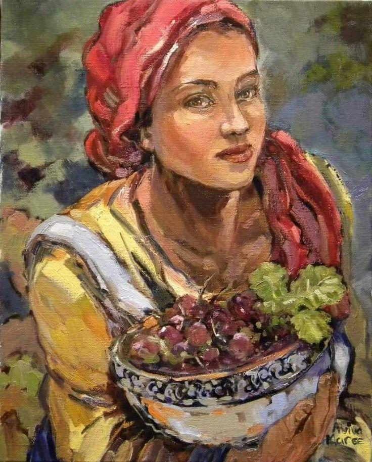 Meisie met korrels    Aviva Maree Art