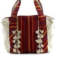Cotton tote bag, 'Poptun'
