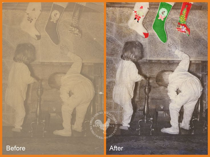 Restore old photos in Photoshop Elements with this video tutorial and a free action.  This would make grandma very happy.... http://www.texaschicksblogsandpics.com/photoshop-elements-free-action-video-tutorial-restore-colorize-a-scanned-photo/